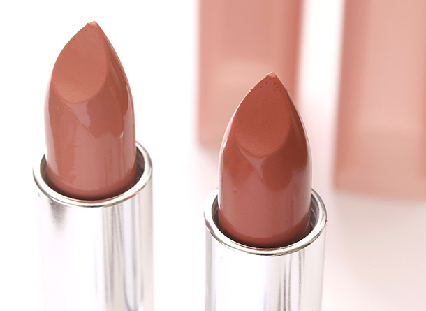 Maybelline Color Sensation The Buffs in Blushing Bride (left) and Stormy Sahara (right)