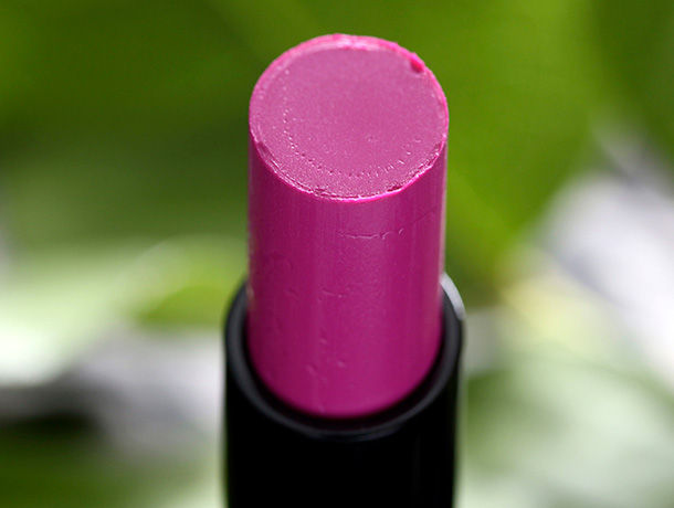 MAC Sheen Supreme Lipstick in Lust Extract, an electric violet