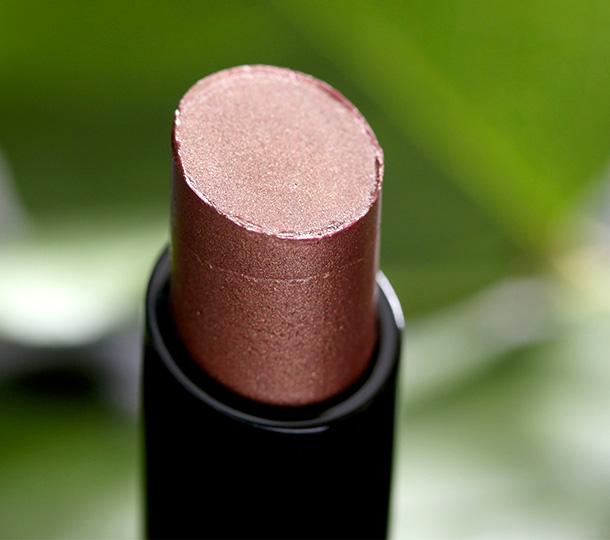 MAC Sheen Supreme Lipstick in Moody Bloom, a bronze plum