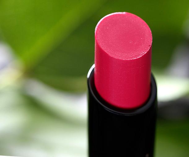 MAC Sheen Supreme Lipstick in Pheromonal, a dark blueish pink