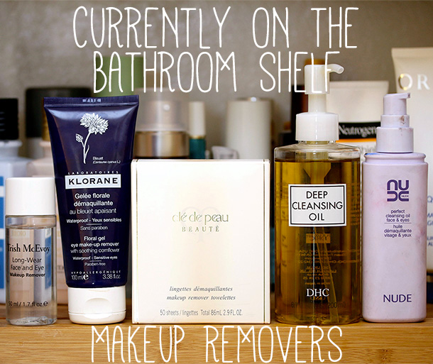 Bathroom Shelf Makeup Removers