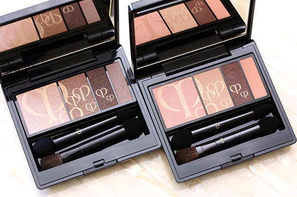 Clé de Peau Beauté Eye Color Quads in 208 (left) and 211 (right)