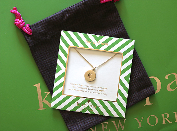 Kate Spade One in a Million Initial Pendant Necklace (6)