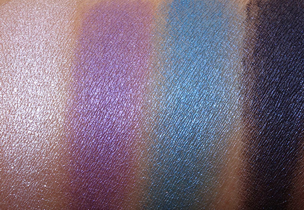 MAC The Simpsons Marge's Extra Ingredients Quad swatches