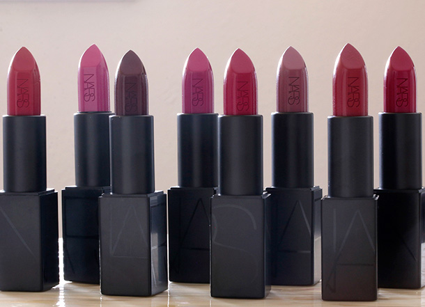 The new NARS Audacious Lipsticks: Purples, Plums and Berries