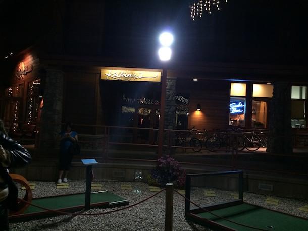 Lake Tahoe dinner date and miniature golf