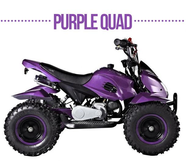Purple quads