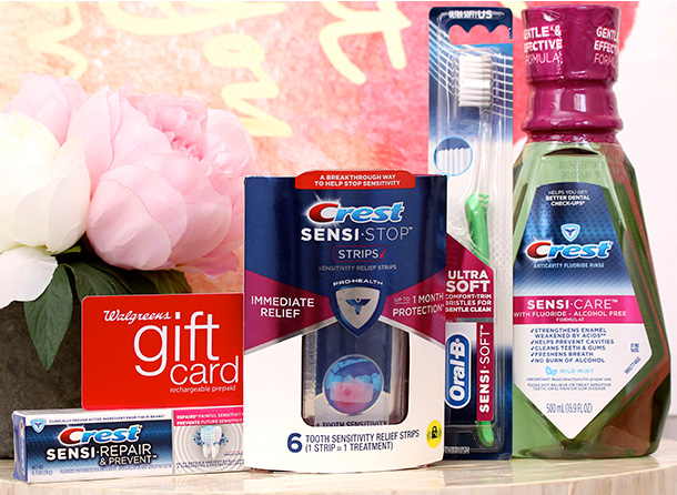 Win a $75 Walgreens gift card, Crest Sensi-Care Strips and more!