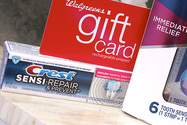 Crest Sensi-Repair Toothpaste (sample size) and  $75 Walgreens Gift Card
