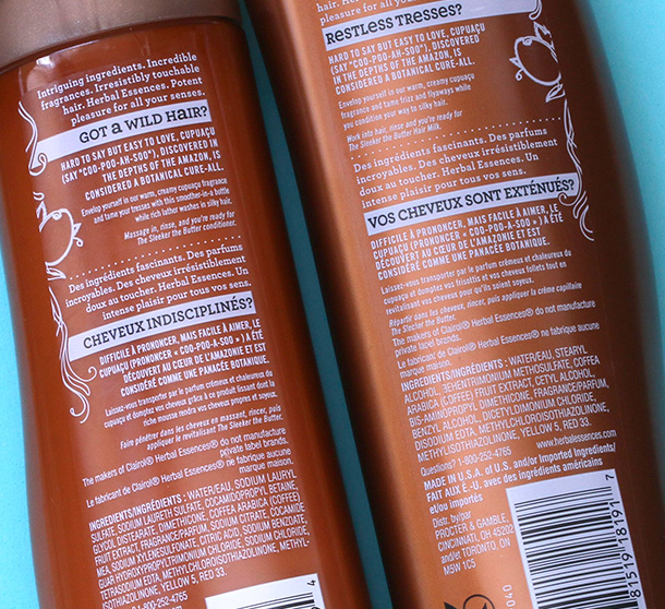 Herbal Essences The Sleeker The Butter Smoothing Shampoo and Conditioner