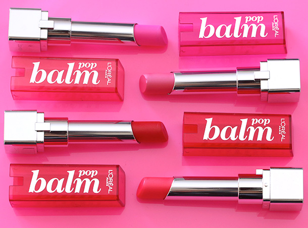 Four of the six L'Oreal Balms Pops, $7.99 each