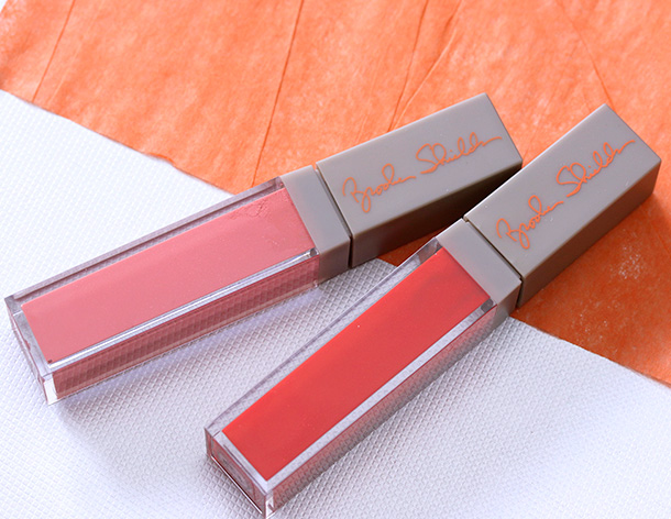 MAC Brooke Shields Lipglasses in Artful (left) and Knockout (right)