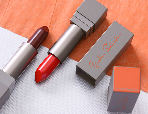 MAC Brooke Shields Lipsticks in Gospel (left) and Excite (right)