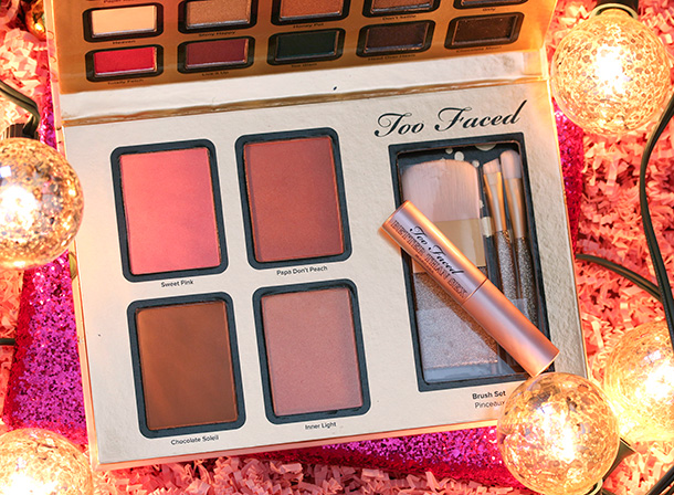Too Faced Everything Nice Set blushes, bronzer, highlighter, brushes and mascara