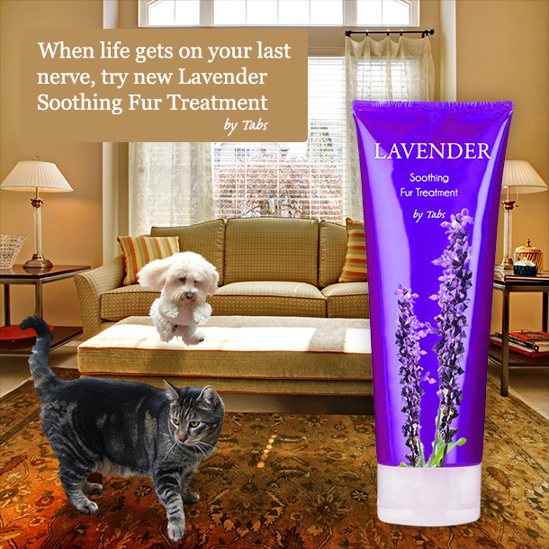 Tabs for new Soothing Lavender Fur Treatment