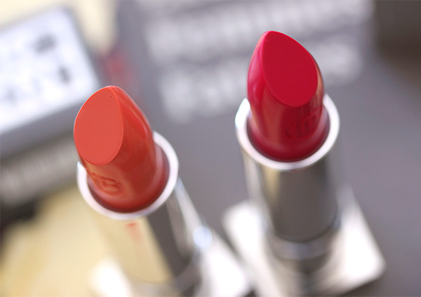 Lipstick Queen Silver Screen Lipsticks in See Me (left) and Play It (right)