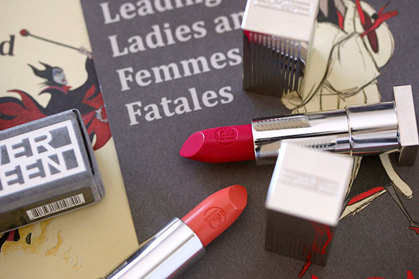 Lipstick Queen Silver Screen Lipsticks in See Me (a peach) and Play It (a hot pink)