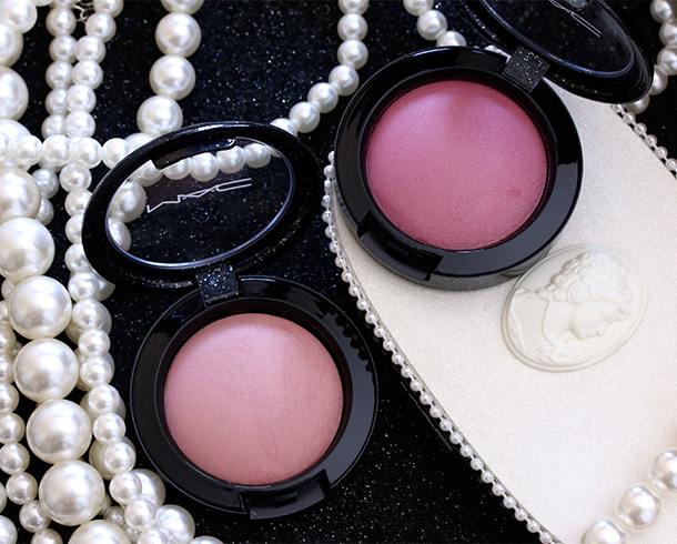 MAC Heirloom Mix Mineralize Blushes in Modest Blush (left) and Sweet Sentiment (right)