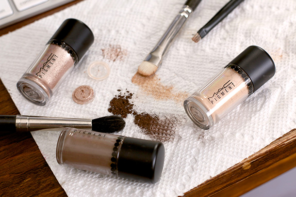 MAC Objects of Affection Pigments and Glitter Set in Gold and Beige