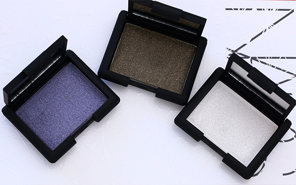 NARS Holiday 2014 Hardwired Eyeshadows from the left: Canberra, Gabon and Opal Coast