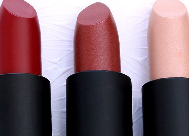 NARS Laced With Edge Holiday Collection Hardwired Lipsticks from the left: Deadly Catch, Femme Fleur and Adriatic