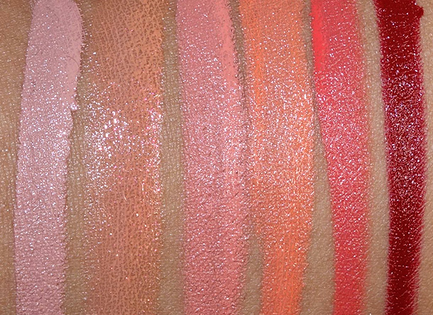 OCC Pro Pics Swatches from the left: Interlace, Zhora, Annika, Cha Cha, Grandma and Vintage
