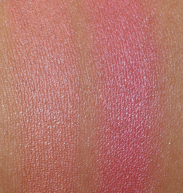 Shupette Silk Cushion Cheek in Orange (left) and Pink (right)