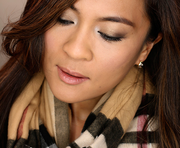 Wearing Sonia Kashuk's Eye Palette in Deco Starlet on my lids and Jazzed Up Nudes on my lips