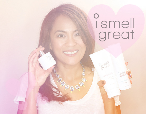With a few of my favorite products from the new i smell great line