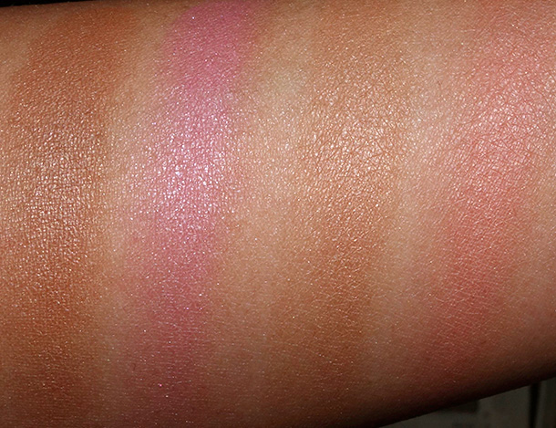 Too Faced Soul Mates Blushing Bronzer: Ross and Rachel (two on the far left) and Carrie and Big (far right)
