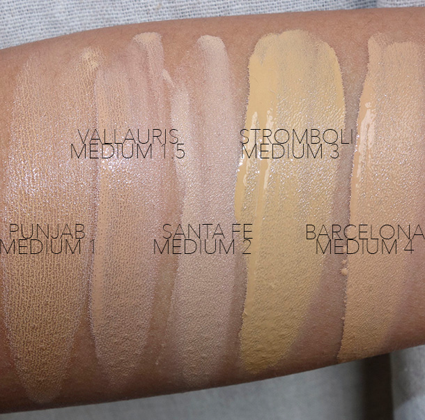 NARS All Day Luminous Weightless Foundation Swatches, MediumShades