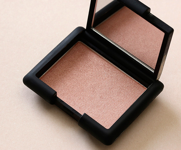NARS Single Eyeshadow in Valhalla, a warm shimmery pinkish peach ($25)