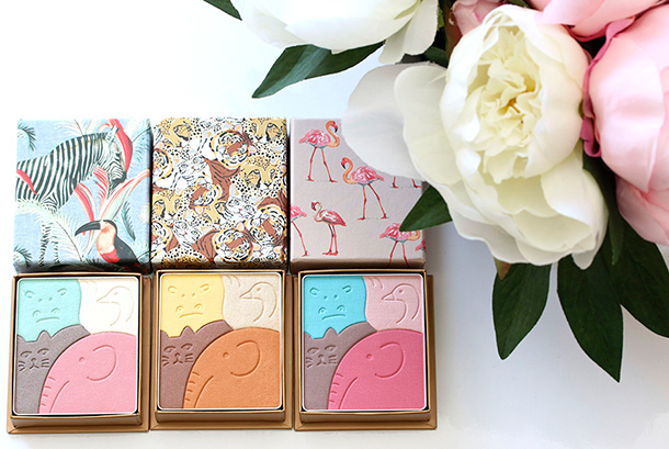 Paul & Joe Menagerie Spring 2015 collection Face & Eye Color CS from the left: Elephanteau (096), Les Flamants Roses (094) and Girafe (095), $39 each
