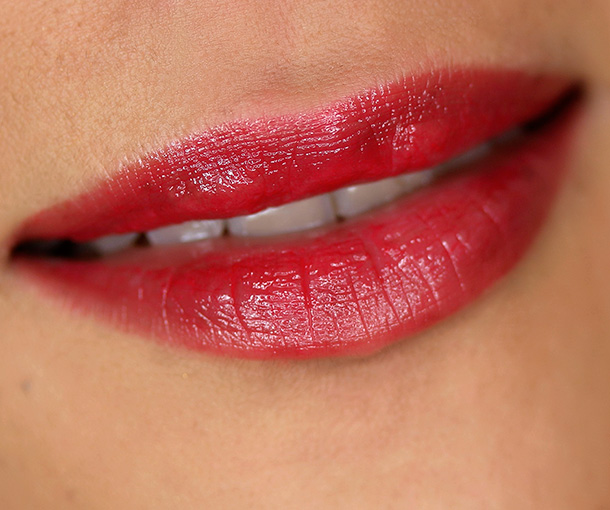 Urban Decay Sheer Revolution Lipstick in Sheer F-Bomb, a sheer red