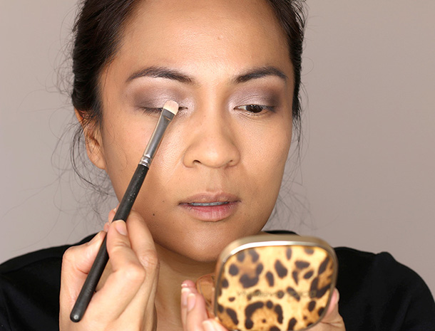 Then I dove into the Covergirl Eye Shadow Quad in Notice Me Nudes, applying the colors on my lids.