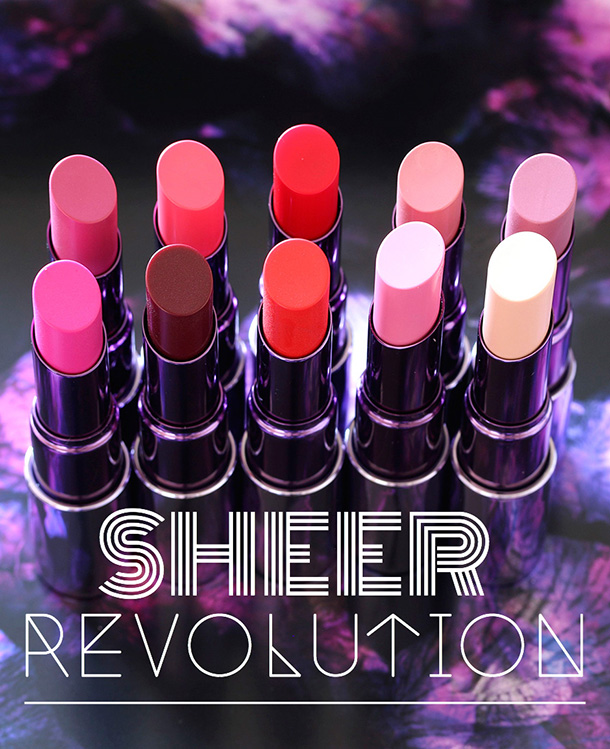 The brand new Urban Decay Sheer Revolution Lipsticks, $20 each