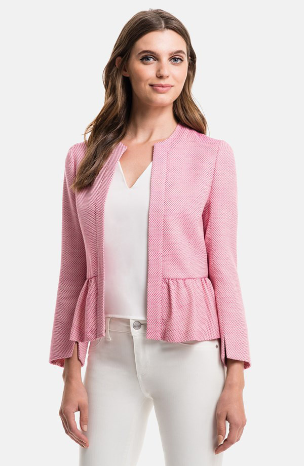 1.State Pink Tweed Jacket