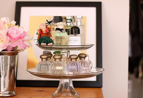 Cake Stand Perfume Display 1