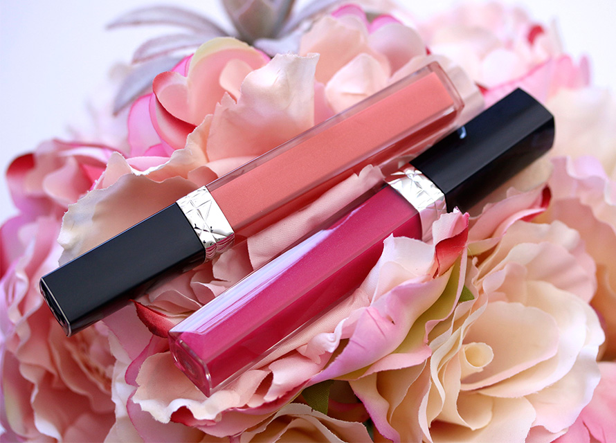 Dior Rouge Dior Brilliant Lipshine & Care Couture Colour in Victoire (left) and Darling (right)