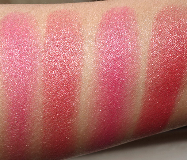 NARS Dual-Intensity Blush in Panic dry (left) and wet (right)