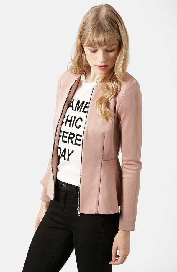 Topshop Tailored Peplum Jacket