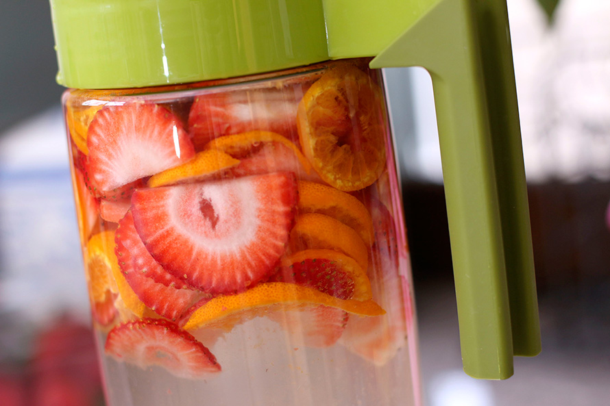 Strawberry and Orange Infused Water 1