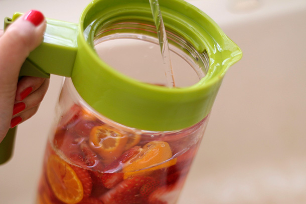 Strawberry and Orange Infused Water step 3