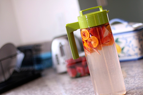Strawberry and Orange Infused Water step 4