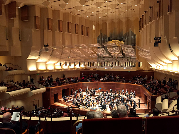 Valentines Day date night at Davies Symphony in Hall