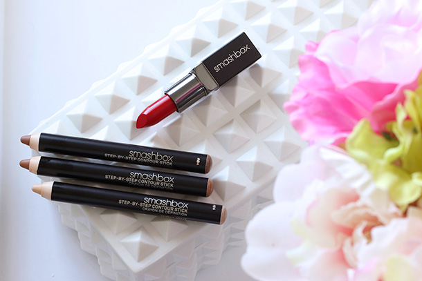 Smashbox Contour Step-by-Step Contour Stick Trio and Cherry Smoke Be Legendary Lipstick in Bing