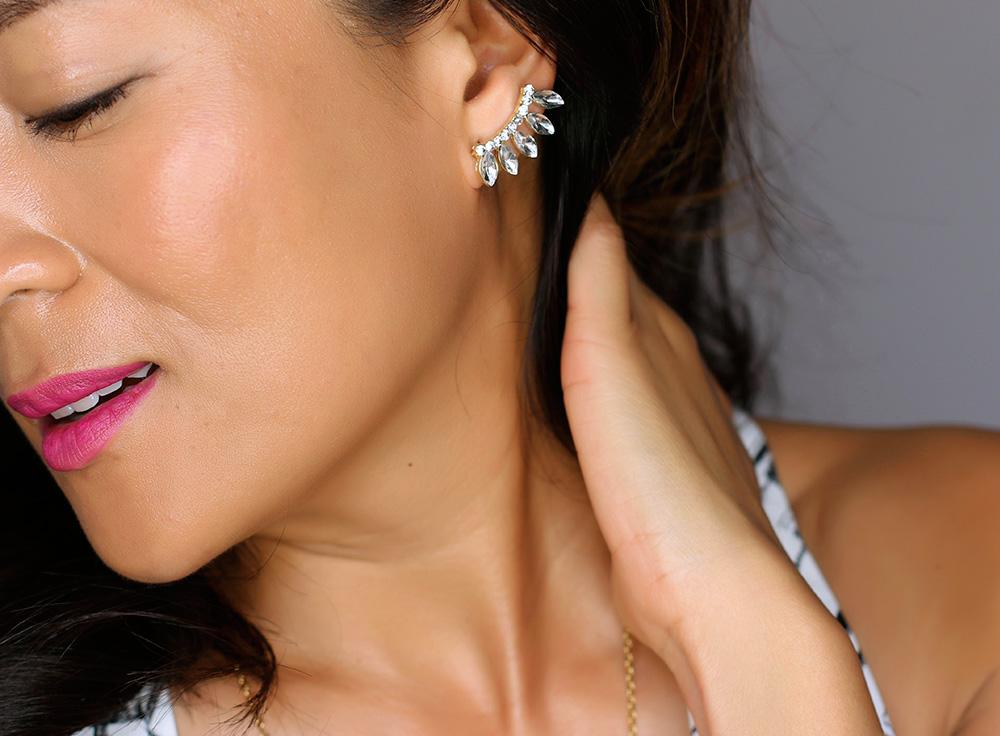 kristin perry dainty crystal spike ear cuff 890
