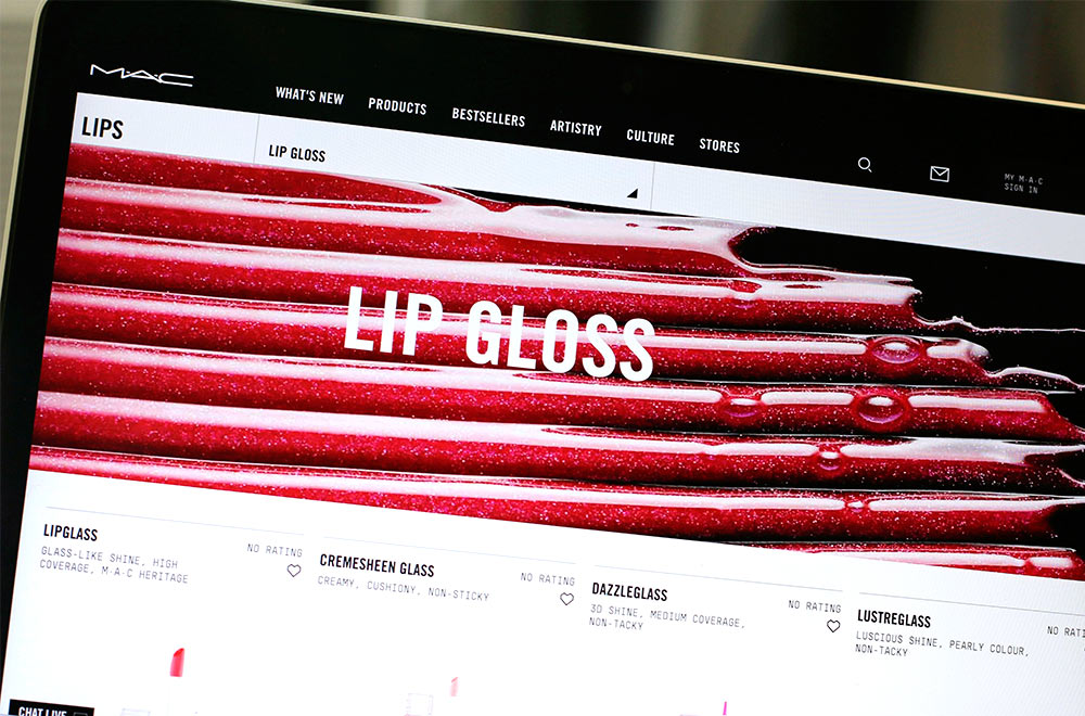 mac cosmetics lip gloss