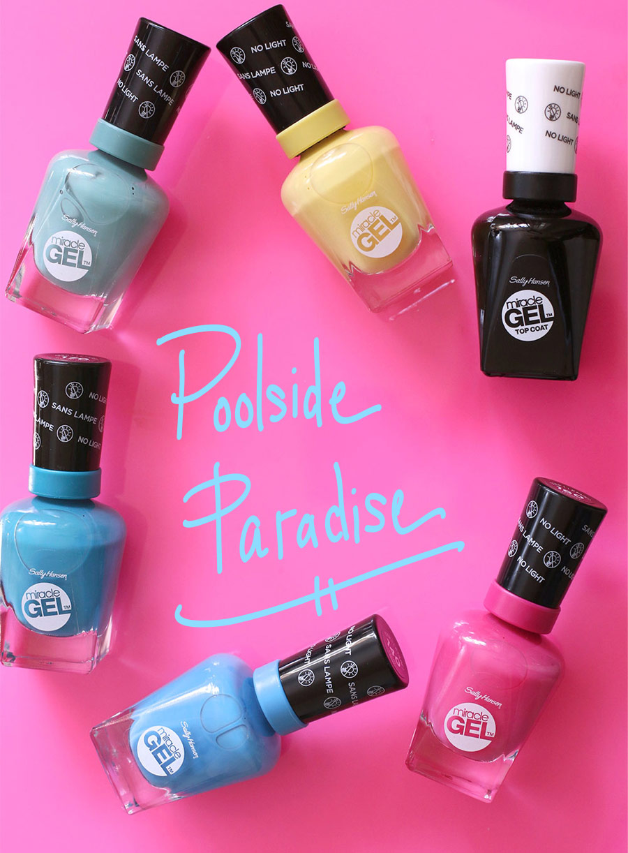 The New Long-Lasting Sally Hansen Poolside Paradise Miracle Gel Nail ...