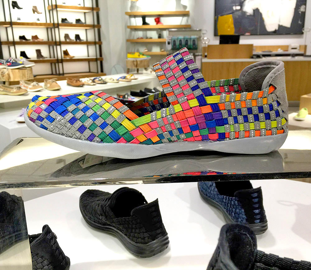 The Bernie Mev Cuddly Sneaker in Multi ($59.95)